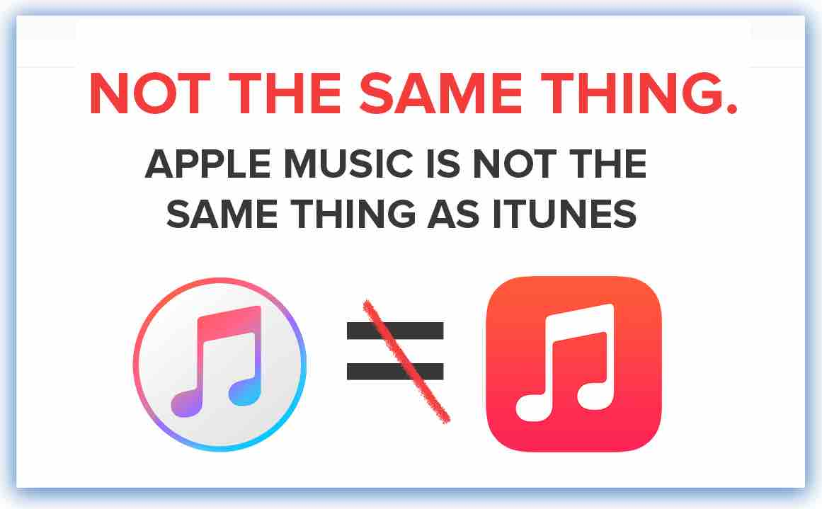 Apple music not the same as Itunes