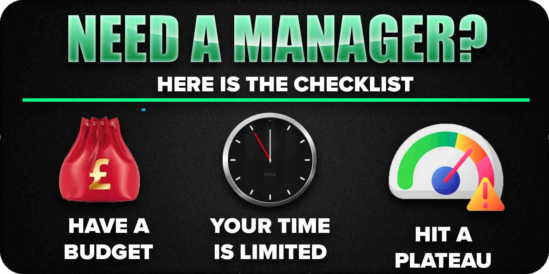 Do you need a music manager?