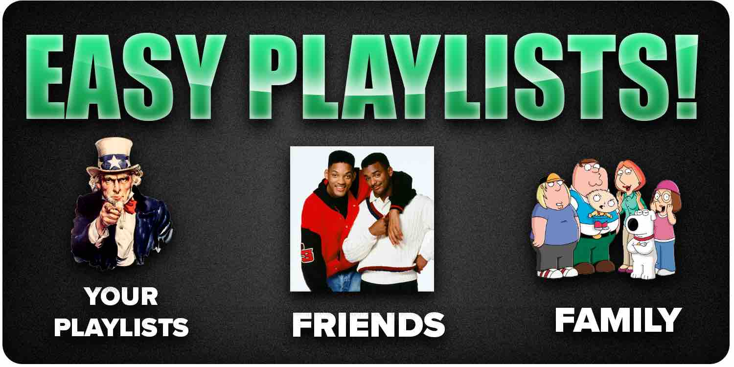 Easy playlist placements