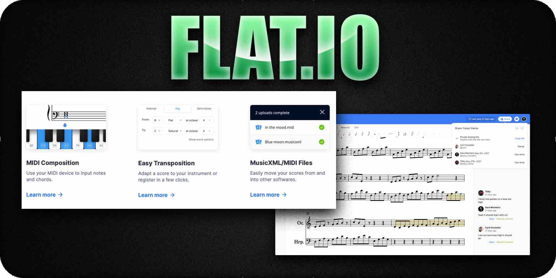 Flat.io music composition software