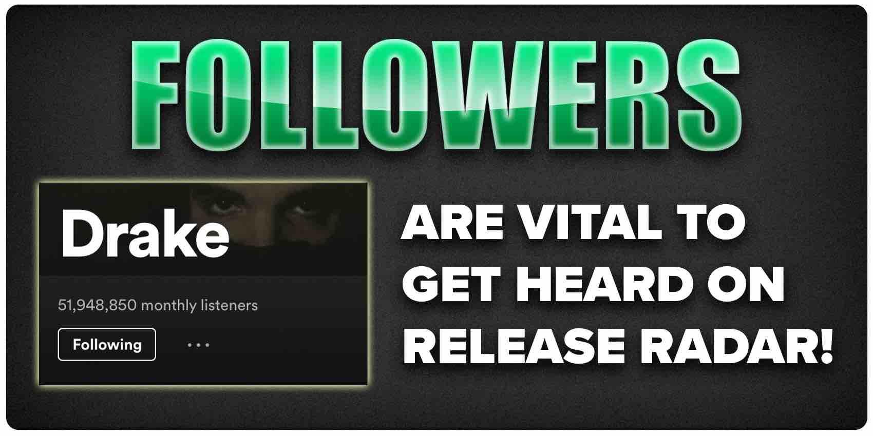 Followers are vital to get heard on Release Radar