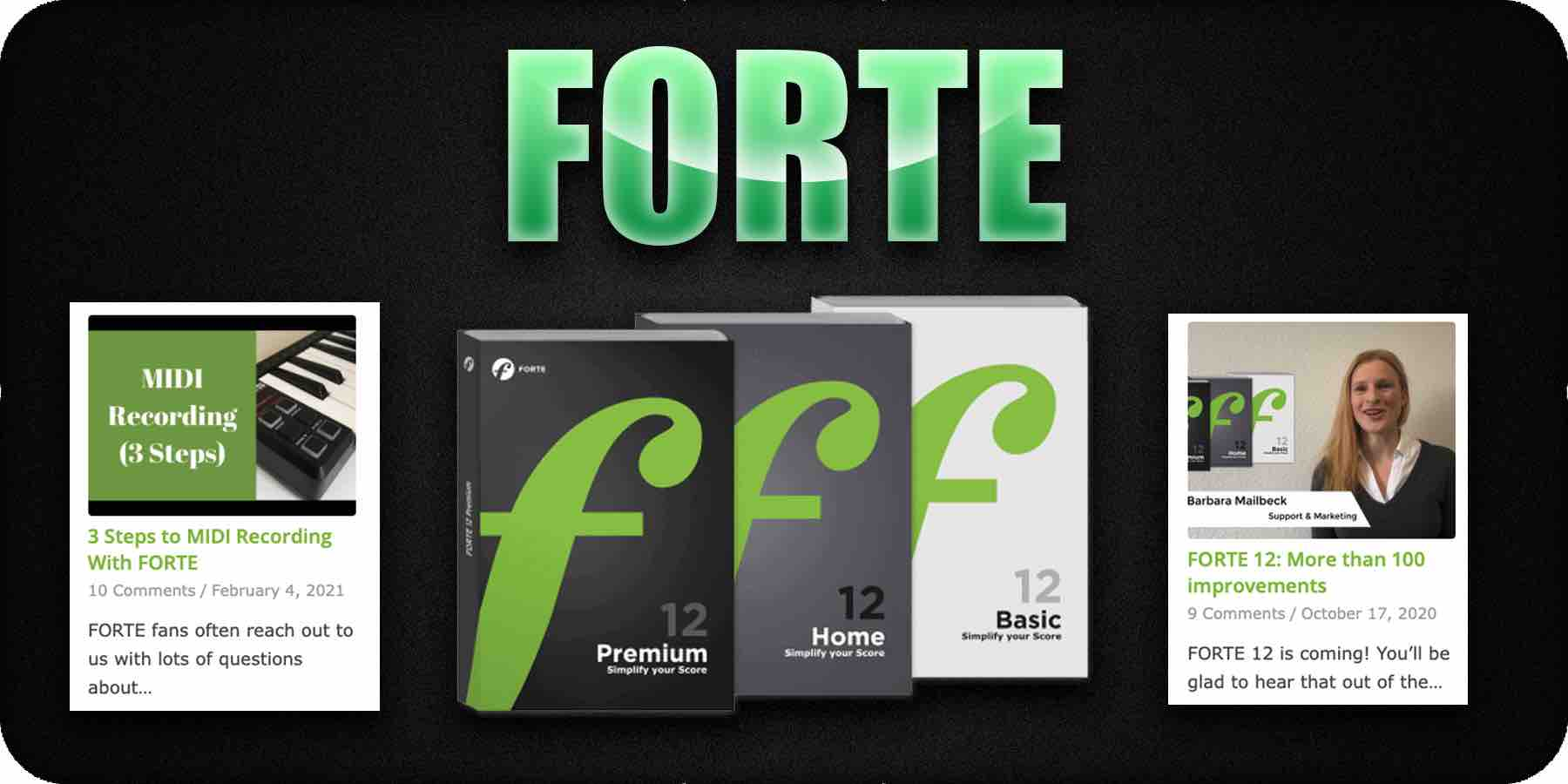 Forte music notation software