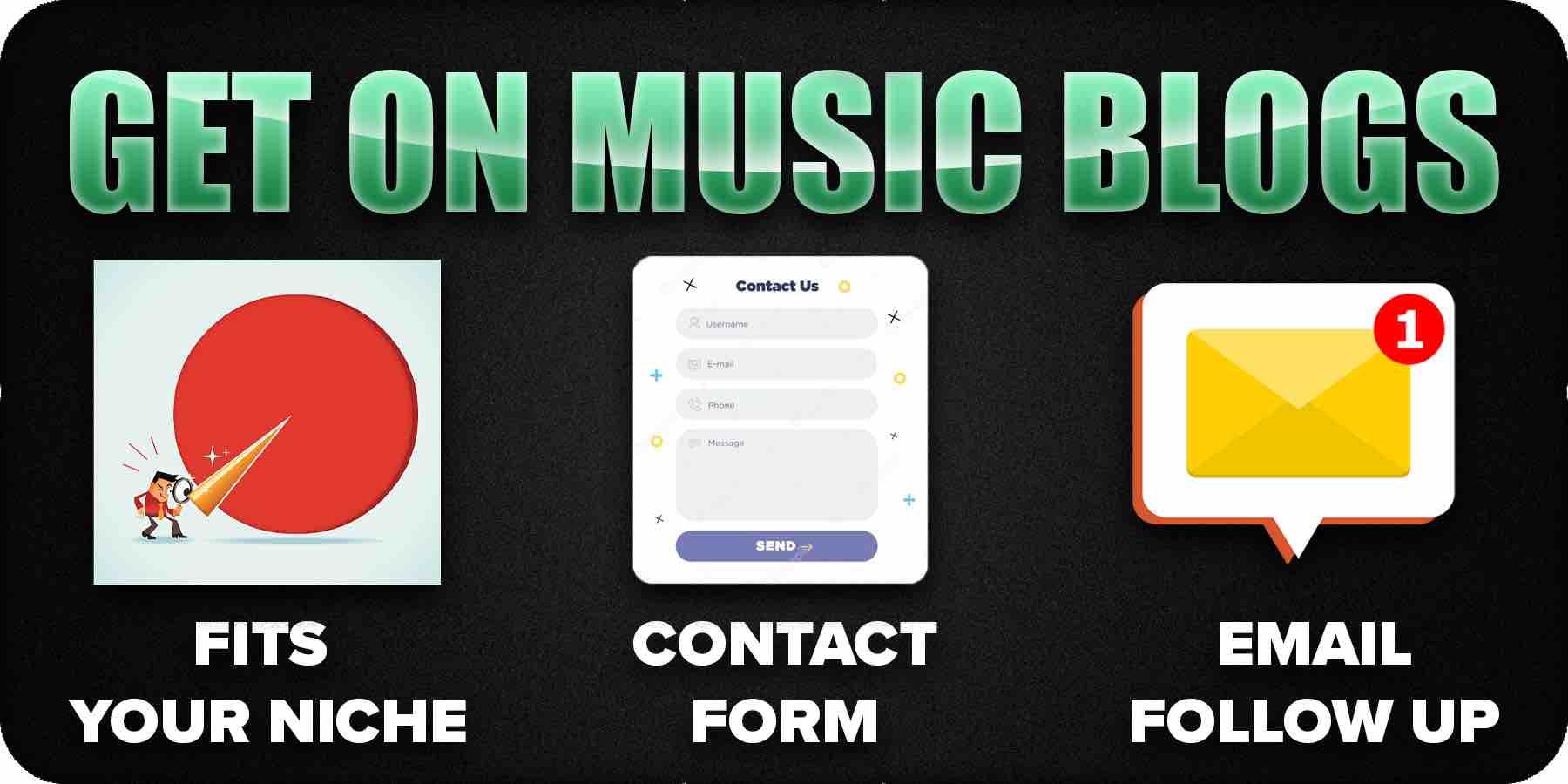 Get on music blogs