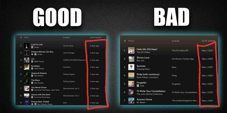 Good Vs Bad Playlist