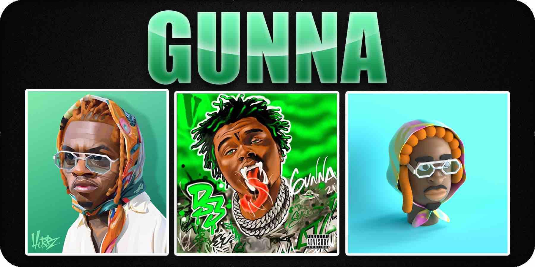 Gunna cartoon cover art