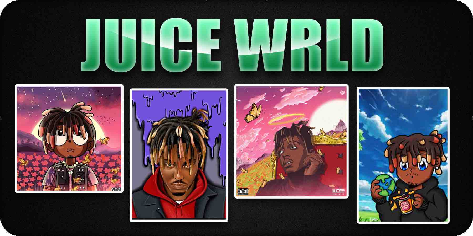 Juice Wrld Cartoon Cover Art