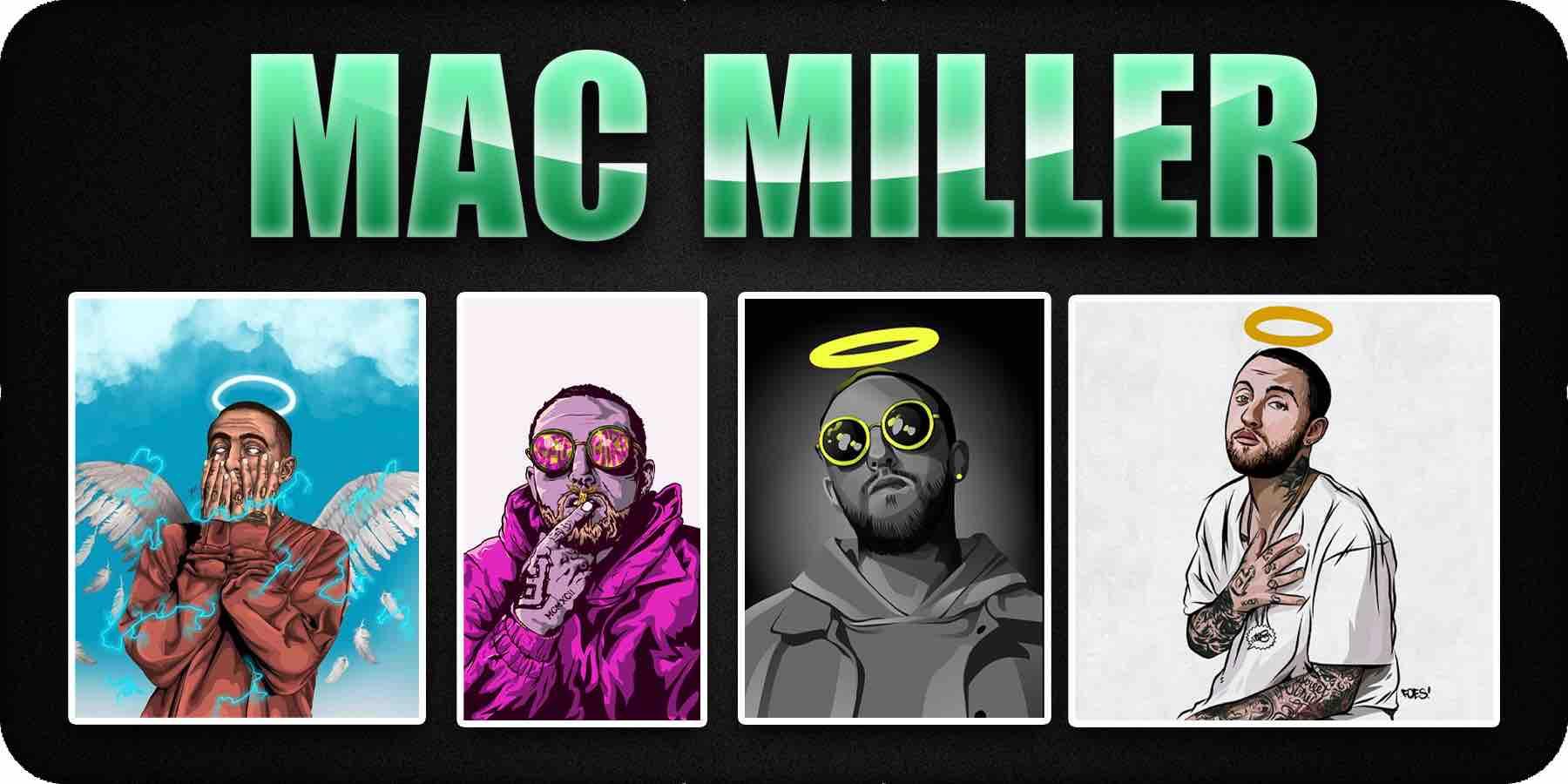 Mac Miller cartoon album cover