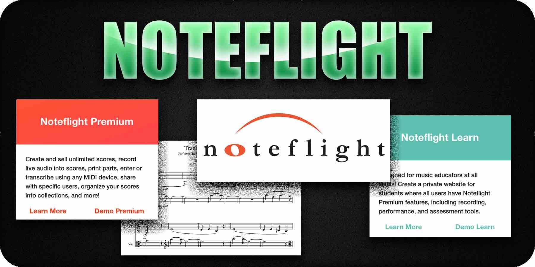 Noteflight music notation