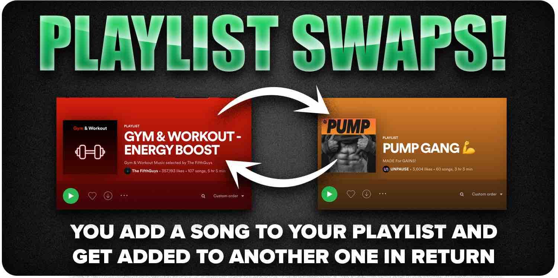 Playlist swap