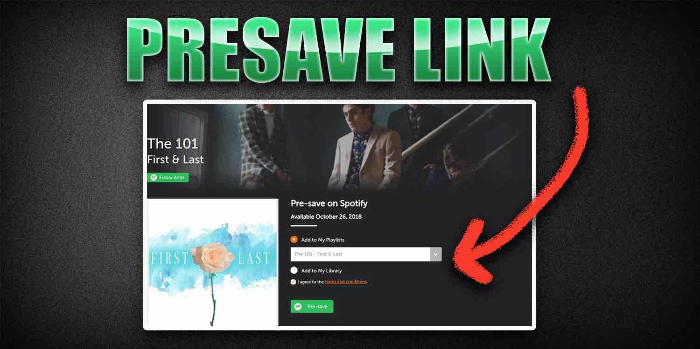 Presave link