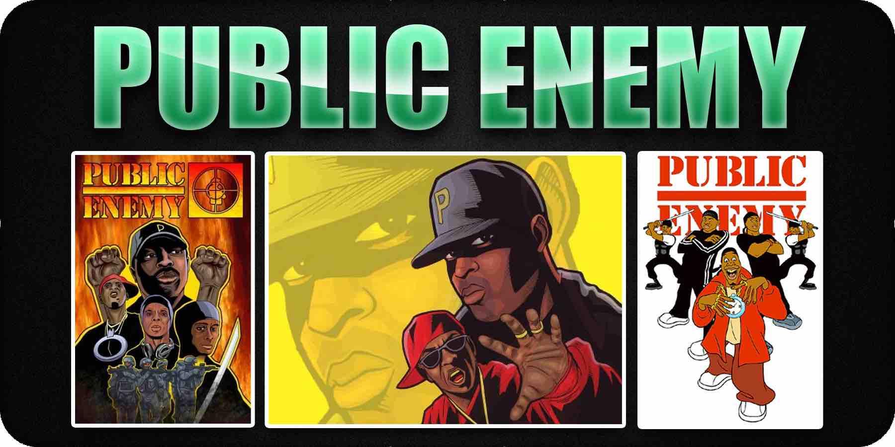 Public Enemy cartoon album covers
