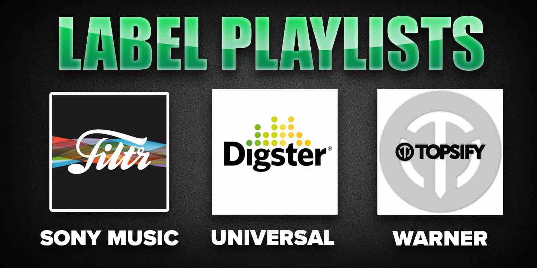 Record label Spotify playlists