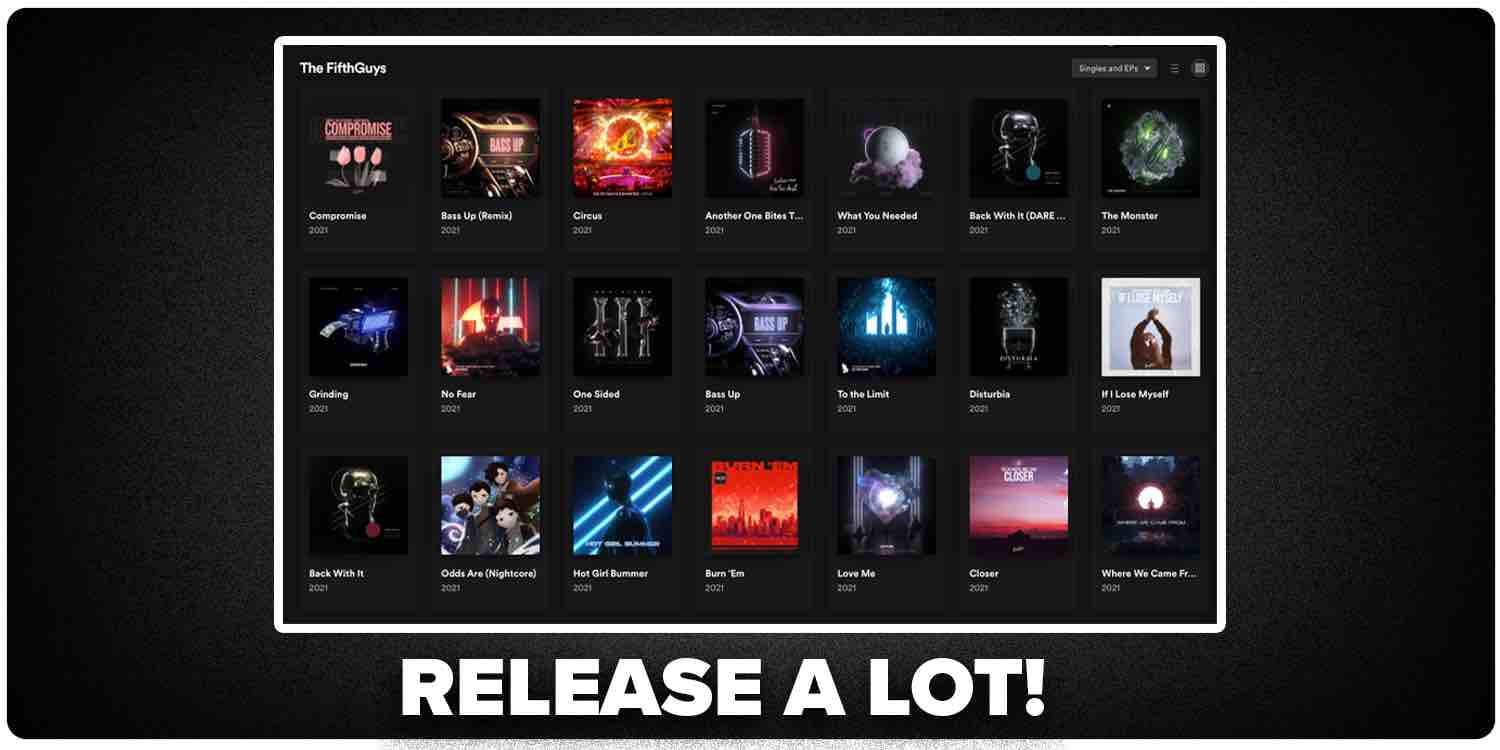 Release a lot of music on Spotify