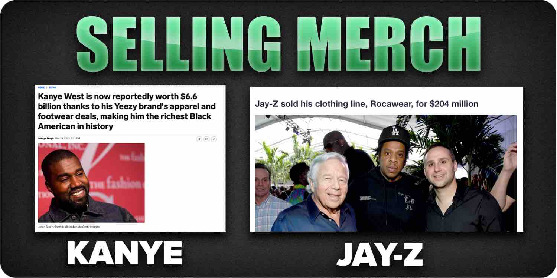 Selling merch