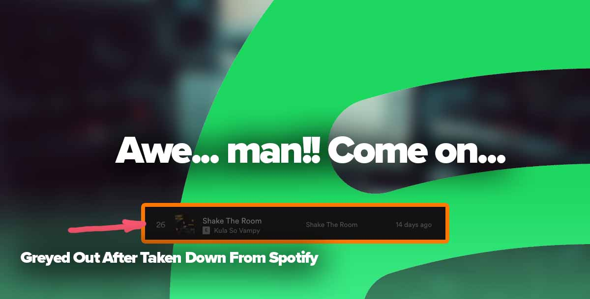Spotify can take down your song