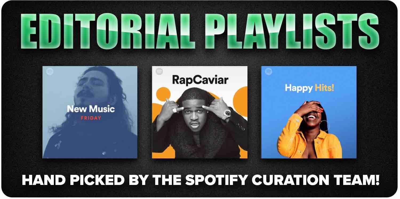 Spotify editorial playlists