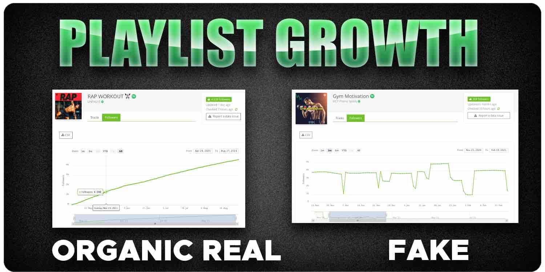Spotify playlist growth organic vs fake