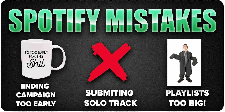 Spotify promotion mistakes