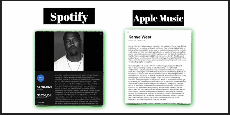 Spotify vs Apple Music comparison