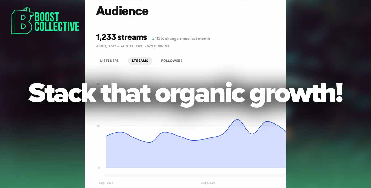 Stack organic growth on spotify