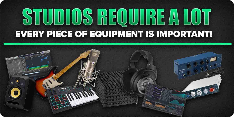 Studio requires a lot
