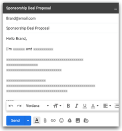 Brand deal proposal email