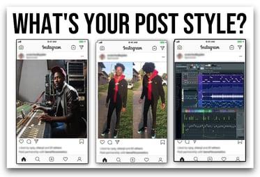 Brand influencer posting styles