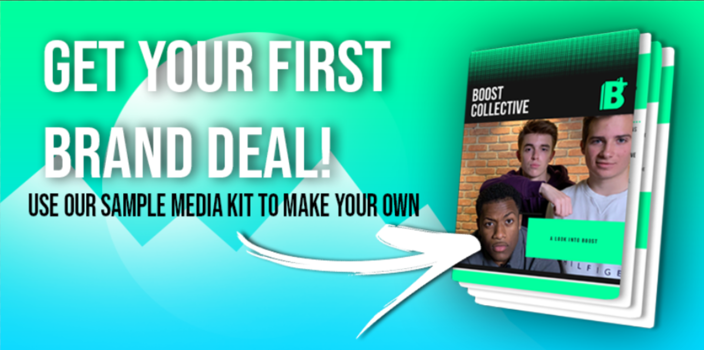 Sample Media Kit template for building your brand